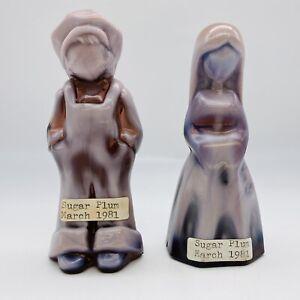 Mosser Jenny Josh Pair Sugar Plum Purple Slag Glass Vi Hunter
