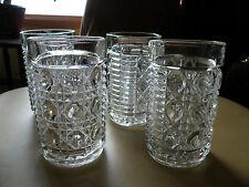 SET OF 4 Federal Glass WINDSOR ROYAL BRIGHTON Tumblers 11 0z