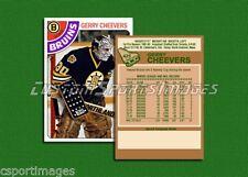 Gerry Cheevers - Boston Bruins - Custom Hockey Card  - 1977-78