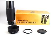 【Mint With Box!】  nikon AI-S Zoom Nikkor 100-300mm f/5.6 AIS MF Lens # 50