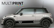 Mini Cooper S One, Side Car Stripes Vinyl Graphics Decal Sticker Motor CAR2