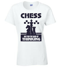 Ladies Chess T-Shirt Not For The Hard Of Thinking Funny Birthday Christmas Gift