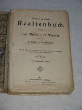 Kahnmeyer und Schulze - Realienbuch für Berlin und Vororte ~ 1911