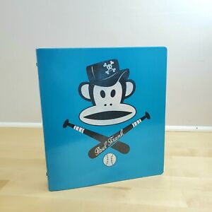 "Paul Frank 2010 Julius Monkey Blue Mead Baseball 3 Ring 1.5"" Binder"