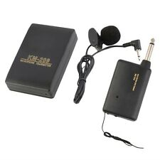 Wireless FM Transmitter Receiver Lavalier Lapel Clip Microphone Mic System MG