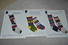 Lot of Christmas Stocking knitting patterns  Designs by Louise