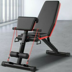 Folding Adjustable Incline Sit Up Chest Leg Abs Bench Flat Fly Weight Press Gym