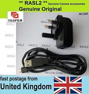 Genuine FUJIFILM AC-5VF AC-5VT AC-5VS AC power adapter + USB Cable X-A10 X-A20
