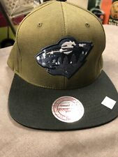 Minnesota Wild Green With Jean Logo Adjustable Snap Back Leather Strap New W/tag