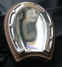 RALPH LAUREN Leather & Silver Horseshoe Grayson Tray
