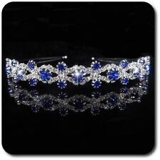 Hochzeit Handgefertigt Weiß Stoff Blume Kristall Diadem T1445