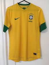 2012 Brazil Soccer Jersey Nike Large Authentic CBFF Brasil Futebol Shirt
