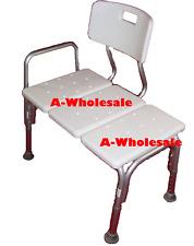 Wheelchair to Bath Tub Shower Transfer Bench Bath Transfer Seat with Hand Rail