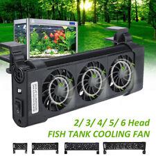 Acuario pescado tanque ventiladores de refrigeración 2/4/6 nuevo agua tropical Enfriadores cabezas Ventilador