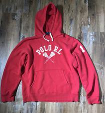Ralph Lauren Polo Sport Mens Hoodie Lacrosse Sweatshirt Size M Red