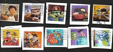 2 Sets Pixar, #4553-7 Send a Hello and #4677-81 Mail A Smile, Used, On Paper