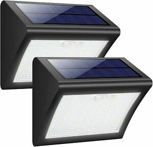 60 LED Waterproof Solar Powered Security Outdoor Walls Lights 1800mAh (2Pack)