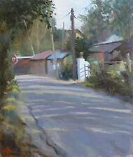"ORIGINALE Michael RICHARDSON ""Shaded Lane"" Paese Vita Rurale Kent dipinto ad olio"