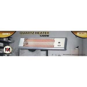 Wall Heater Quartz, Patio Heater, Wall Mounted Heater, 2 Heat Setting, 1200W