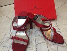Charles Jourdan Vintage NIB Red Satin Heels/Sandals - Size 7.5 - WOW