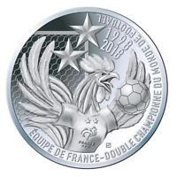 NOUVEAU ! 10 EUROS ARGENT coupe du monde de football FIFA 2018 victoire des bleu