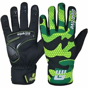 GripActive Winter Cycling Gloves Water Resistant Windproof BMX Anti-Slip with