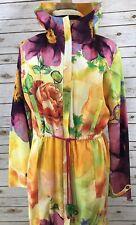 IVKO Women's Water Resistant Jacket Style #51701 Floral Size L (42 European)