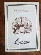 Super Rare 1st Queen early fan club newsletter Summer 1976