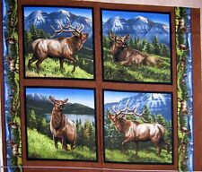 "34"" Fabric Panel - Springs Wild Wings Elkmont Ridge Elk Nature Pillowcase Block"