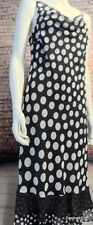 stunning black white spot sleeveless frill dress voile 12 M&S drape cowl neck