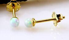 585 er Gold Ohrstecker 14 Karat Gelbgold mit Opal Kugel 3 mm