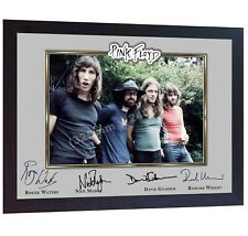 Pink Floyd David Gilmour signed photo print poster autographed Framed