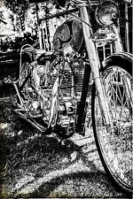 12x18 in. Poster Triumph Motorcycle Vintage Garage  Man Cave Harley Davidson