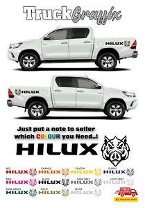 TOYOTA HILUX MK7 MK8 MK9 INVINCIBLE 4x4 HOG VEHICLE GRAPHICS DECALS STICKERS x2