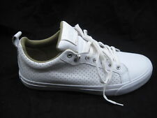 Converse All Star white mens leather tennis shoes sz 11M womens 151048C