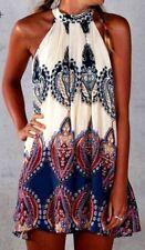 Geblümte Damenkleider im Tuniken-Stil mit M