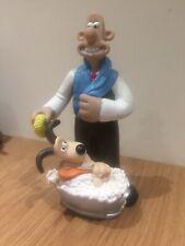 RARE Wallace & Gromit Figures Animation Bubble Bath Container Empty Retro Figure