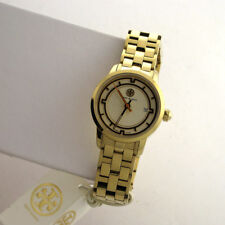 Tory Burch Swiss TRB1009 Sunray Dial Stainless Steel Link Band Ladies Watch