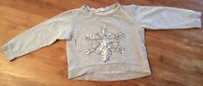 Pullover H&M Schneeflocke Pailletten Gr 134/140