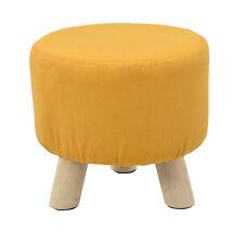 [en.casa]® Siège tabouret couleur moutarde rembourré tabouret rembourrage