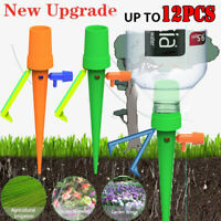 1/12pcs Garden Plant Automatic Self Watering Spikes Stakes Valve Waterer Device