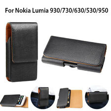 Lumia 930 730 630 530 950 PU Leather Pouch Belt Clip Case Cover for Nokia