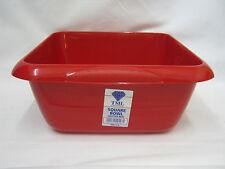 """Nouveau tml carré en plastique vaisselle bol 7 litres 29cm 11 1/2"""" rouge"""