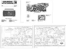 "GRUNDIG SATELLIT 600 COPY SERVICE MANUAL in GERMAN + 11x17"" DIAGRAMS SCHEMATICS"