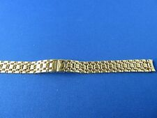 OEM Authentic Longines bracelet 12mm GOLD PLATED S/S Deployment Buckle NEW
