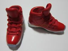 """1/6 Scale Sneakers Sports Trainers Air AJ11 Red for 12"""" Action figure"""