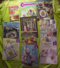Lot w/ Pattern Sheets Easter Crafts Cross Stitch Kids Baskets Eggs Bunnies Dolls
