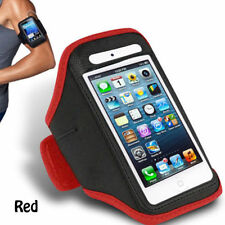 Red iPhone 4 4S Sports Strong ArmBand Padded Soft Cover With Earphone Pocket