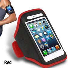 Rouge iPhone 4 4S Sports forte brassard rembourré couverture souple avec poche pour écouteurs