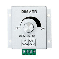 Aluminium Channel Knob Dimmer Controller 12-24V 8A for Single Color LED Strip